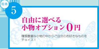 自由に選べる小物オプション0円